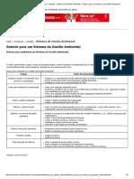 Ambiente Brasil » Conteúdo » Gestão » Sistema de Gestão Ambiental » Roteiro para um Sistema de Gestão Ambiental.pdf