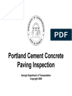 Portland Cement Concrete Paving Inspection