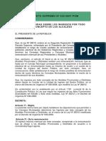 24.- d.s. Nº 025-Pcm- 2007- Ingresos de Los Alcaldes