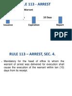 FINAL!!!! - Powerpoint Presentation for Rule 113 - Arrest