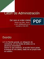 Catón de Administración.