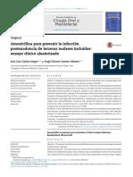 Amoxicilina Para Prevenir La Infeccion Postexodoncia de Terceros Molares
