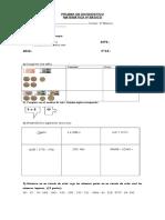 Prueba de Diagnóstico de Educación Matemática 4º Básico