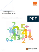 IGCSE Maths 0580_2019-Syllabus