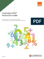 IGCSE Maths 0580_2019-Syllabus