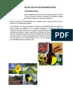 Problemas Del Uso de Los Biocombustibles