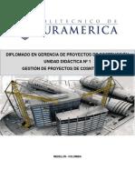 UNIDAD DIDÁCTICA 1 GERENCIA DE PROYECTOS DE CONSTRUCCIÓN