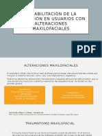 Rehabilitacion de La Deglución en Pacientes Con Alteraciones Maxilofaciales