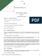Ley Contrato de Trabajo 20744