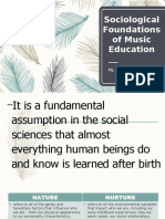 Sociological Foundations of Music Education