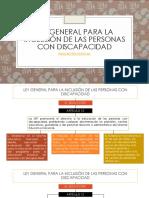 Ley General Para La Inclusión de Las Personas