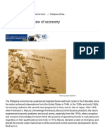 Philippines Overview of Economy, Information About Overview of Economy in Philippines
