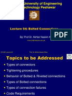 Lecture -04 Bolted Connections