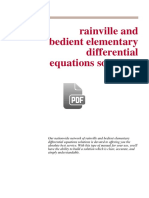 332447696 Rainville and Bedient Elementary Differential Equations Solutions