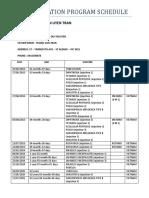 Immunisation Program Schedule