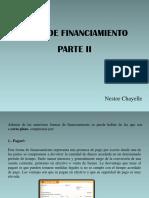 Nestor Chayelle - Tipos de Financiamiento Parte II