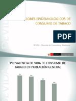 Indicadores Consumo de Tabaco Devida - 2010
