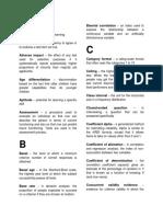 Glossary - Kaplan Psych Assessment