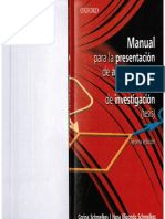 Libro Manual Para La Presentacion de Anteproyectos e Informes de Investigacion