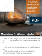 Magdalena Villaruz - presentation on Filipino Inventors
