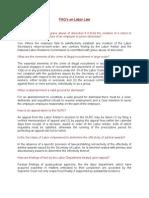 FAQs Labor Law