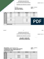 VI Ciclo Horario 2015 - I HRI