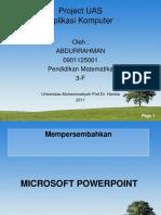 Abdurrahman 0901125001 Mtk 3f