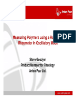 Measuring Polymers Using a Rotational Rheometer in Oscillatory Mode