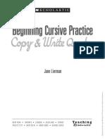 Begin Cursive Practices