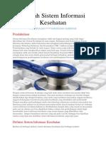 Sejarah Sistem Informasi Kesehatan