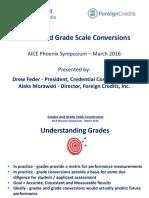 Grades and Grade Scale Conversions