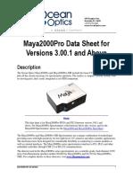 OEM Data Sheet Maya2000Prov3