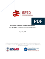ISFED Evaluation of the Pre-Election Environment