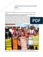 Obstacles Concerning Access to Justice and Protection for Indigenous People