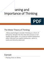 The Meaning and Importance of Thinking