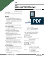 Portable Type Ultrasonic Flowmeter (PORTAFLOW-C)