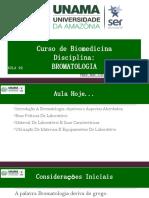 Aula 02 - Introdução à Bromatologia; Objetivos e Aspectos Abordados