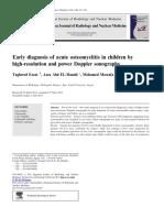 Early Diagnostic Osteomyelitis in Children by Doppler
