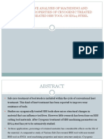 Comparitive Analysis of Subzero Treated of Hss Tool