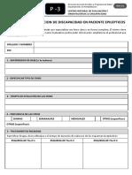 Planilla Para Evaluacion de Discapacidad en Pacientes Epilepticos 0