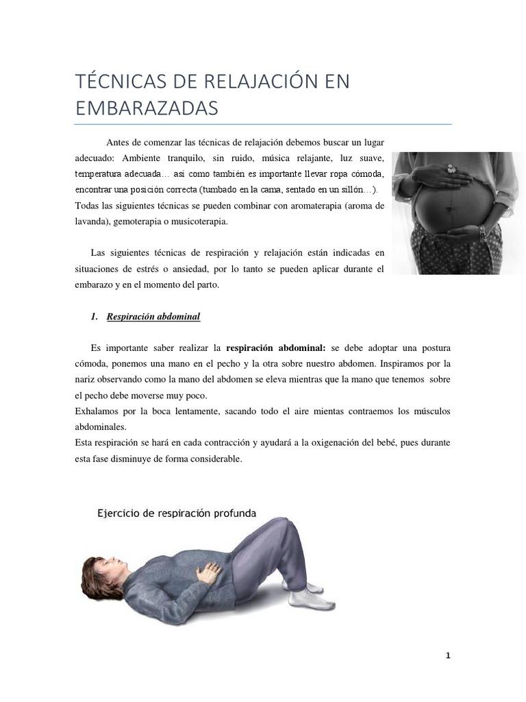 metodos de relajacion durante el parto