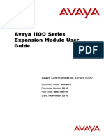 Avaya 1100 ExpansionModule UG