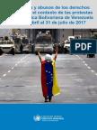 Alto comisionado de la ONU advierte torturas y desapariciones forzadas en Venezuela