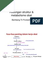 4. Hubungan Struktur & Metabolisme Obat