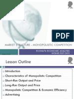 Lesson 03A Market Structure - Monopolistic Competition