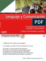 Clase 1 Presentación de la PSU de Lenguaje y Comunicación