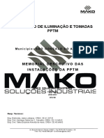 Memorial Descritivo das Instalações Elétricas da PPTM - Projeto Executivo.doc