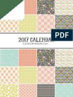 2017 Calendar Todays Creative Life