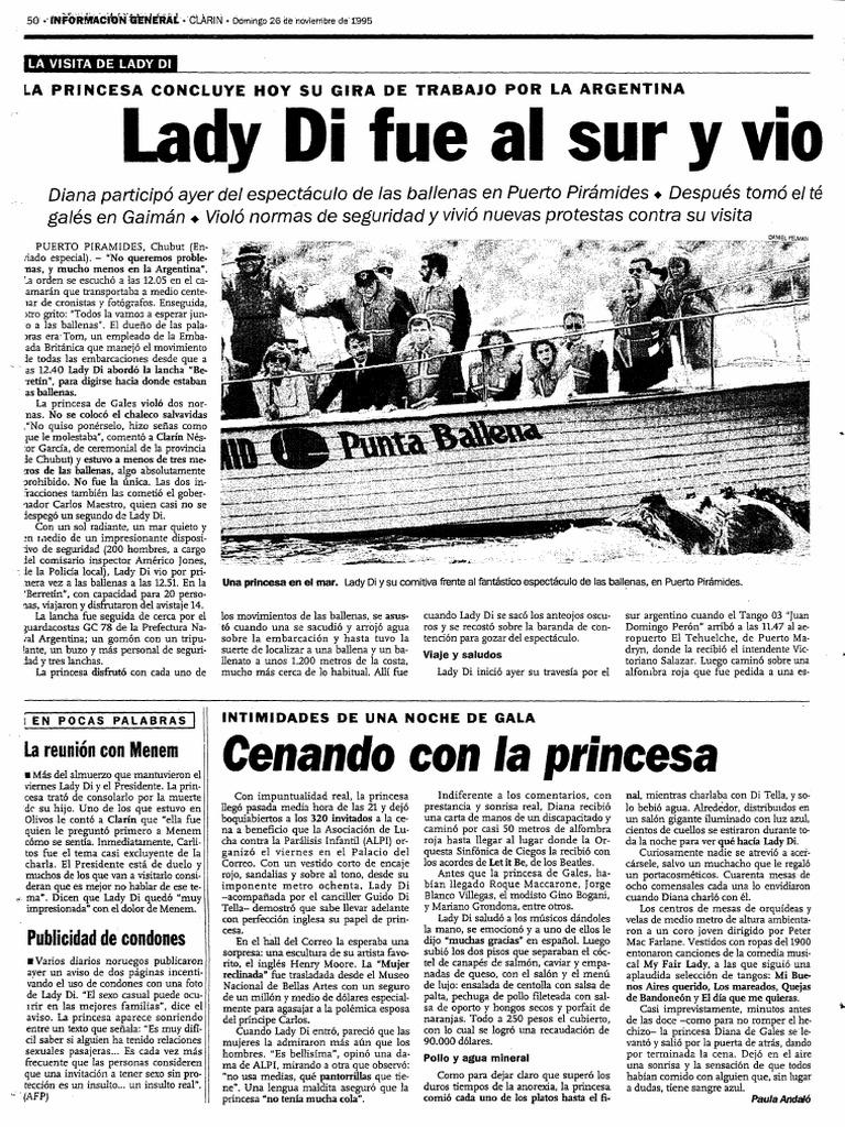 Lady Di Vio Las Ballenas | PDF | Diana