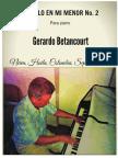 PASILLO EN MIm para piano. Gerardo Betancourt.